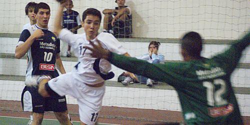 Metodista recebe Eduardo Gomes pelo jogo 2 da semifinal do Infantil Masculino. Crédito: Hamilton Ribeiro