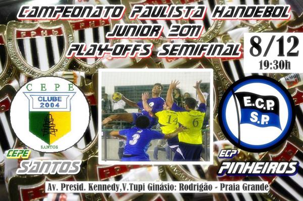 Santos e Pinheiros fazem jogo 1 da semifinal do Júnior Masculino nesta quinta-feira.